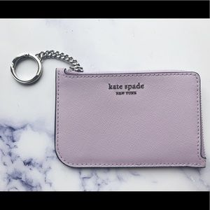 NWT💞Kate Spade l-zip card holder